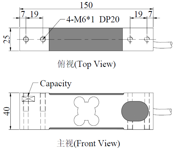 single point load cell for platform